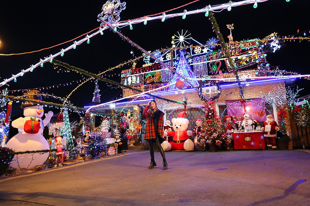 DeSario family house of Christmas lights for Sick Kids Hospital