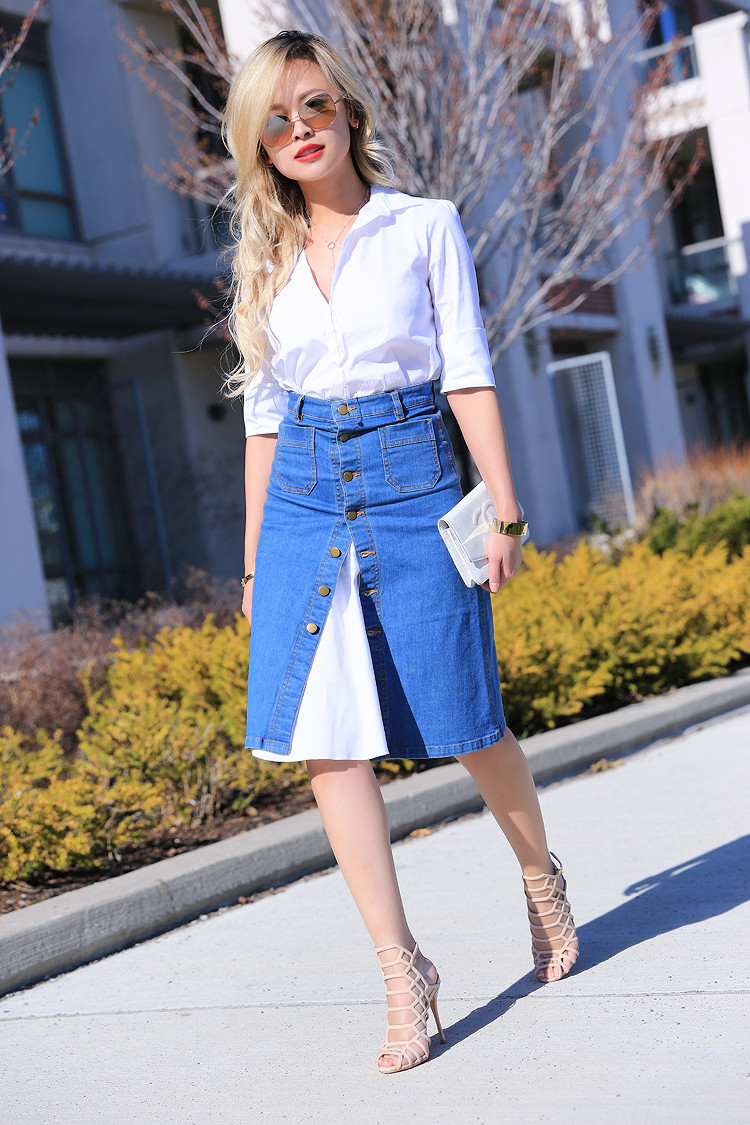 Love Between the Racks - Canadian Fashion Blogger - how to wear a skirt over a shirt dress3437