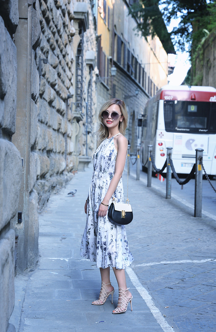 Love Between the Racks x Florence - Fashion Blogger - Club Monaco floral dress, Chloe Drew bag 864