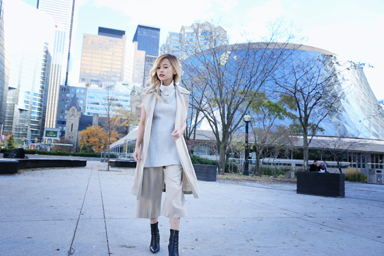 Love Between the Racks Lina Dinh OOTD Sleeveless coat, tonal dressing 3