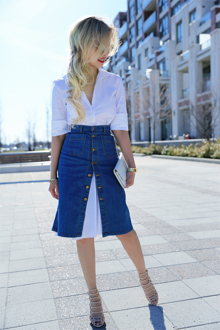 Love Between the Racks - Canadian Fashion Blogger - how to wear a skirt over a shirt dress3525
