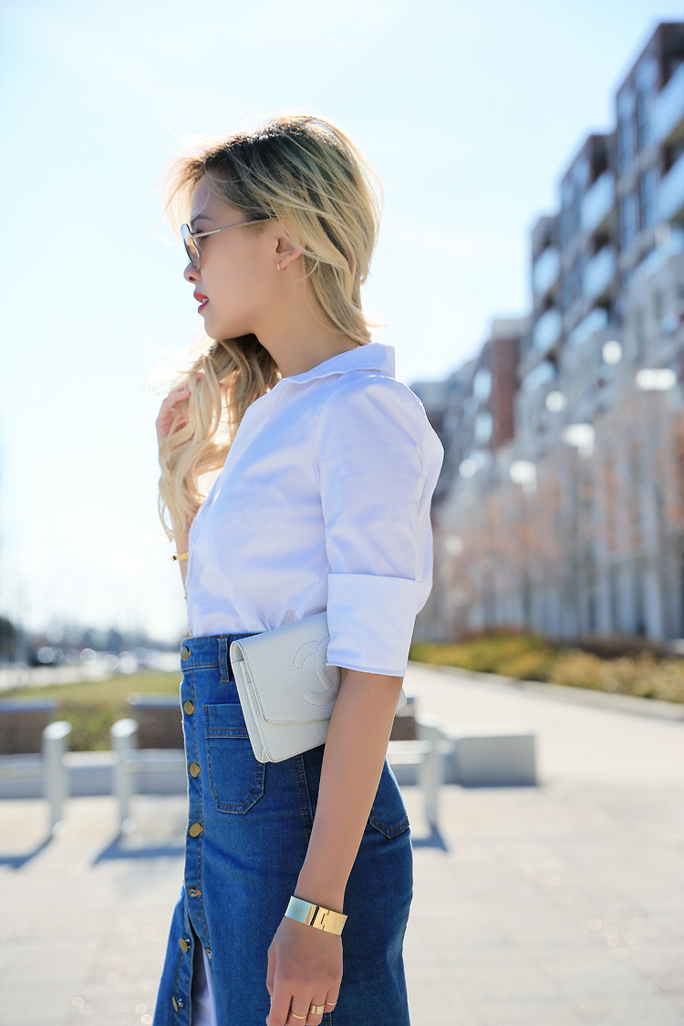Love Between the Racks - Canadian Fashion Blogger - how to wear a skirt over a shirt dress3495