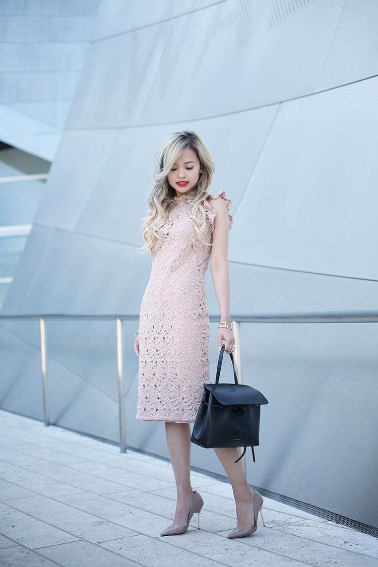 Love Between the Racks - fashion blogger - lace dress, Kurt Geiger bond pumps, Mansur Gavriel lady bag_4828