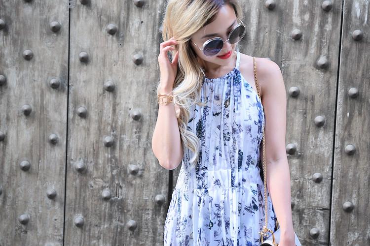 Love Between the Racks x Florence - Fashion Blogger - Club Monaco floral dress, Chloe Drew bag 951