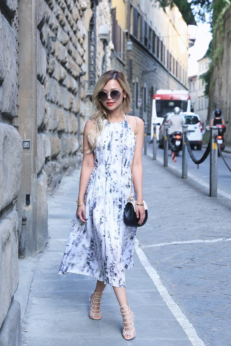 Love Between the Racks x Florence - Fashion Blogger - Club Monaco floral dress, Chloe Drew bag 865