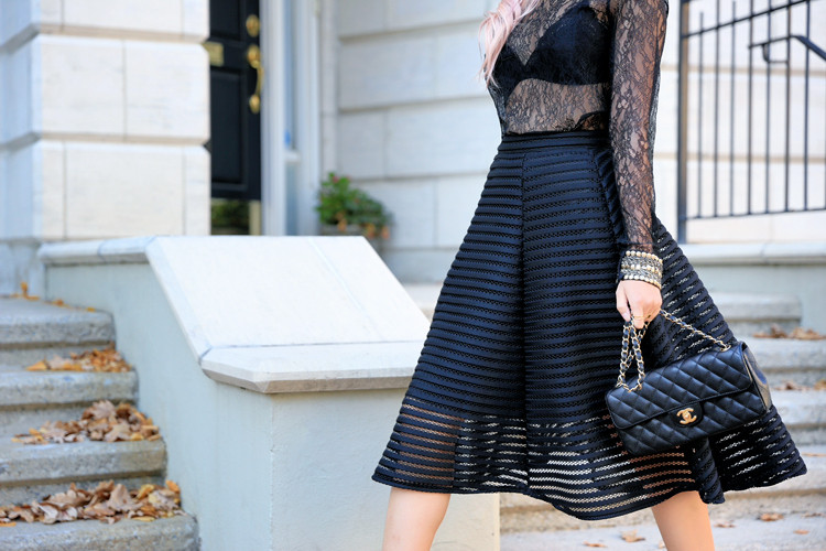 Love Between the Racks - Lina Dinh - Topshop lace top & TFNC mesh skirt 6
