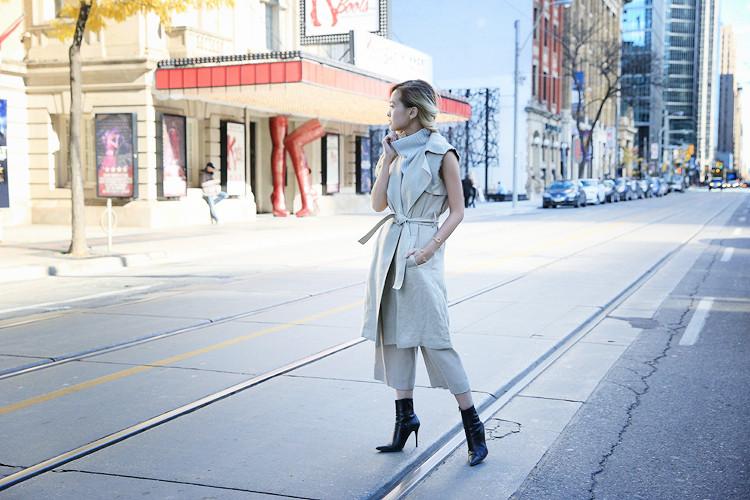 Love Between the Racks Lina Dinh OOTD Sleeveless coat, tonal dressing 8
