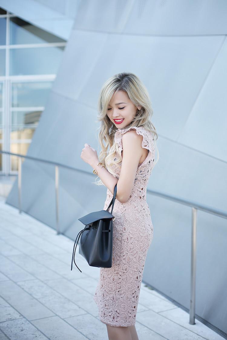 Love Between the Racks - fashion blogger - lace dress, Kurt Geiger bond pumps, Mansur Gavriel lady bag_4888