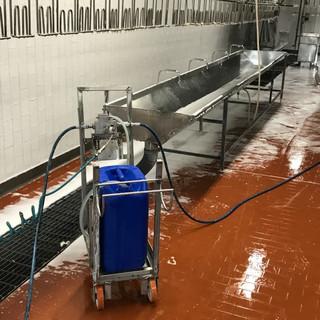 Lavaggio stabilimento alimentare
