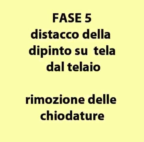 SMONTAGGIO E MOVIMENTAZIONE DIPINTO SU TELA Museo Fondazione Padova (Parte 1)