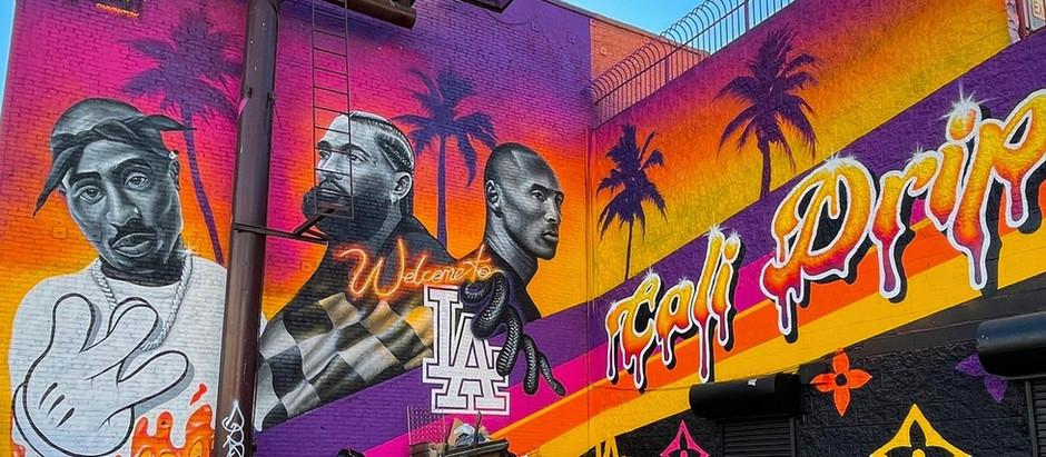 Kobe Bryant & Nipsey Hussle murals in Los Angeles / Southern California