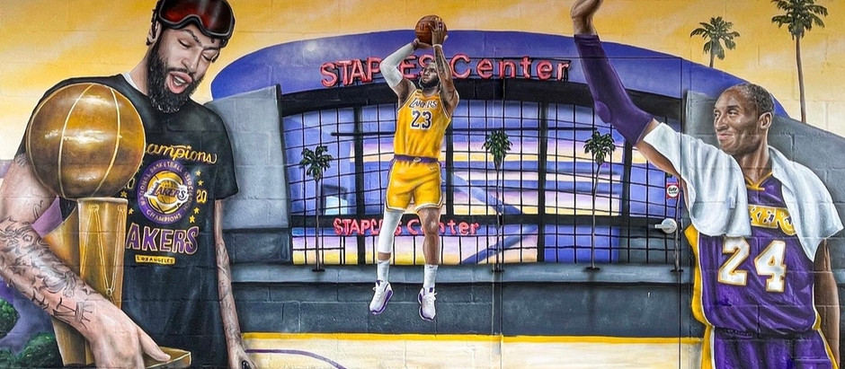 Kobe Bryant murals in West LA, Santa Monica, Venice, Westwood