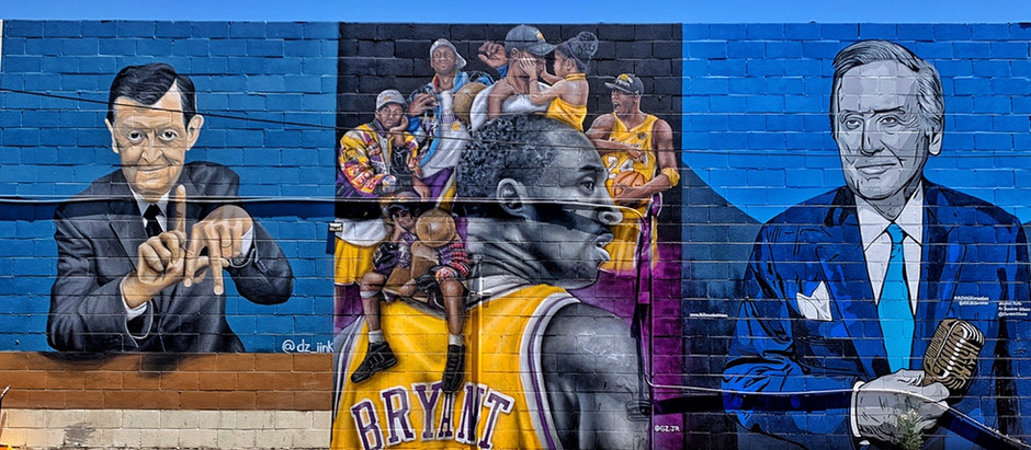 Kobe Bryant murals in San Fernando Valley, Los Angeles