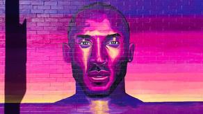 Kobe Bryant mural walls on Melrose Ave, Los Angeles