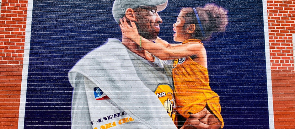 Kobe Bryant murals in Eastern Los Angeles