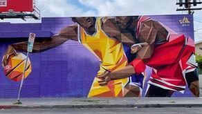 Kobe Bryant murals in South Los Angeles