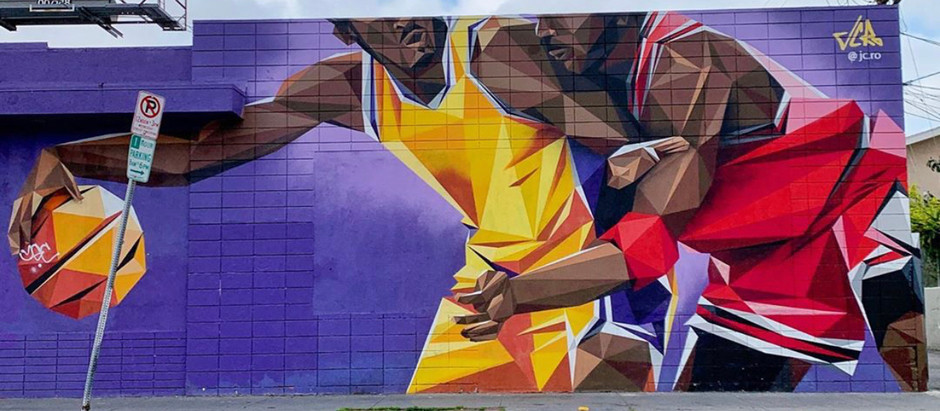 Kobe Bryant murals in South Los Angeles