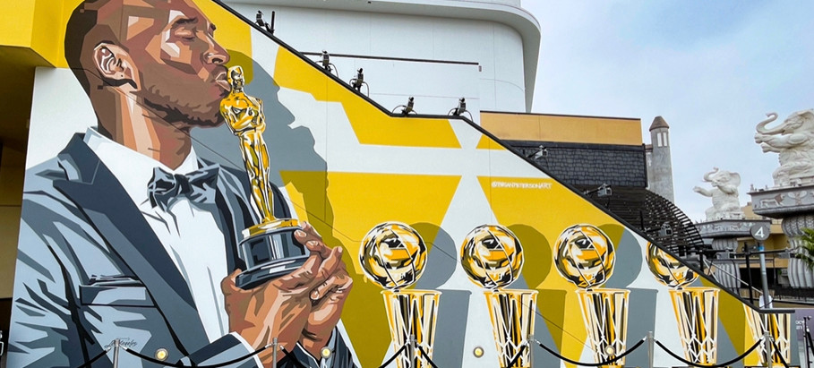 Kobe Bryant murals in Mid-City to Hollywood, Los Angeles