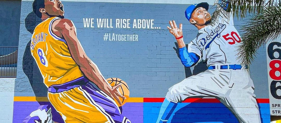 Kobe, Lakers & Dodgers murals in Los Angeles