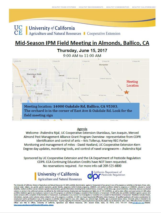 Mid-season IPM Field Meeting 15 June