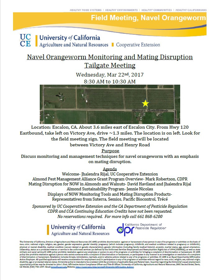 NOW mating disruption field meeting-March 22