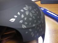 casco da sci V55 Flowers lato sinistro