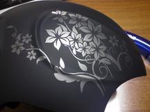 casco da sci V55 Flowers lato destro