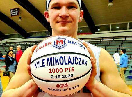 Kyle Mikolajczak hits 1,000 career points