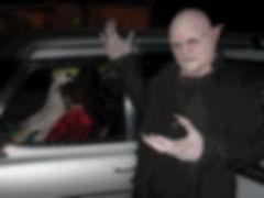 Night Mansion hearse at the Devil's Attic