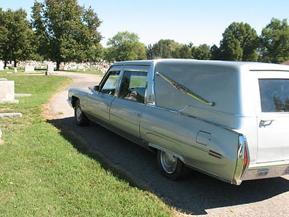 Exterior Night Mansion Hearse