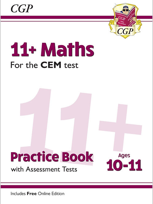 11+ CEM Maths Practice Book & Assessment Tests - Ages 10-11 (with Online Ed.)