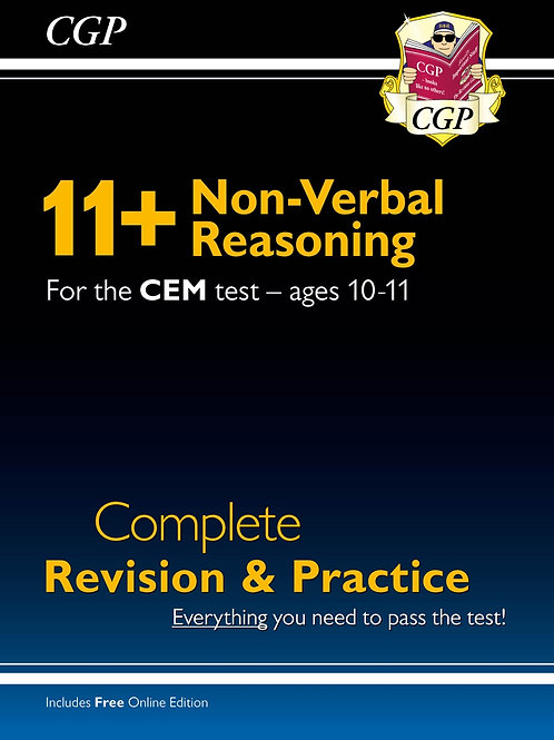 New 11+ CEM Non-Verbal Reasoning Complete Revision and Practice - Ages 10-11