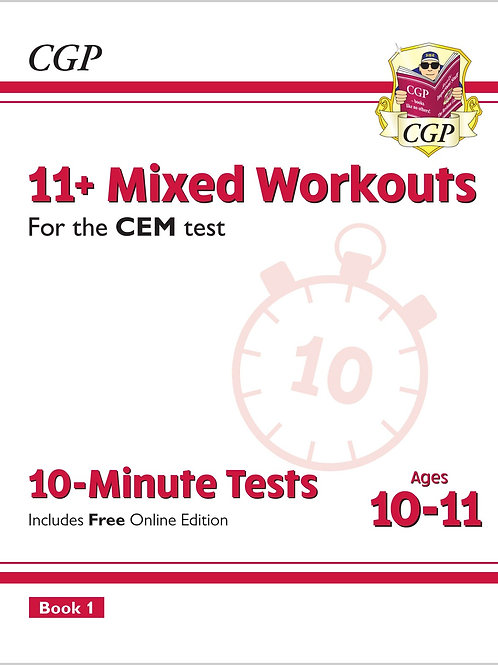 11+ CEM 10-Minute Tests: Mixed Workouts - Ages 10-11 Book 1 (with Online Edition