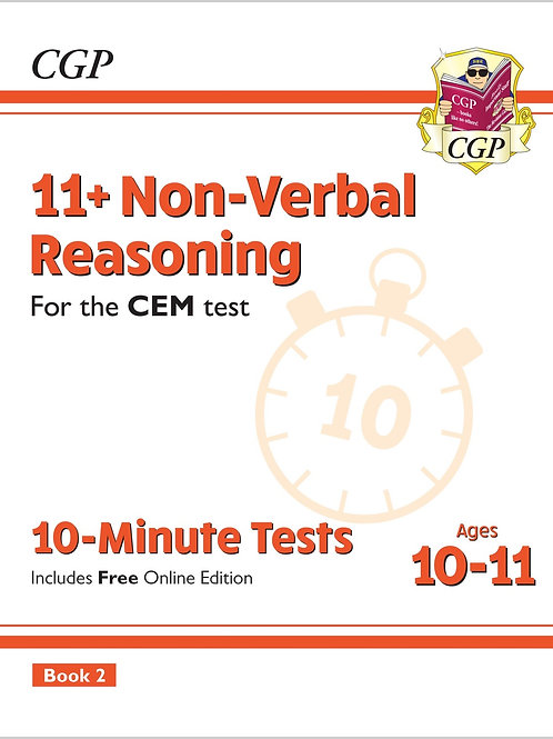 11+ CEM 10-Minute Tests: Non-Verbal Reasoning - Ages 10-11 Book 2