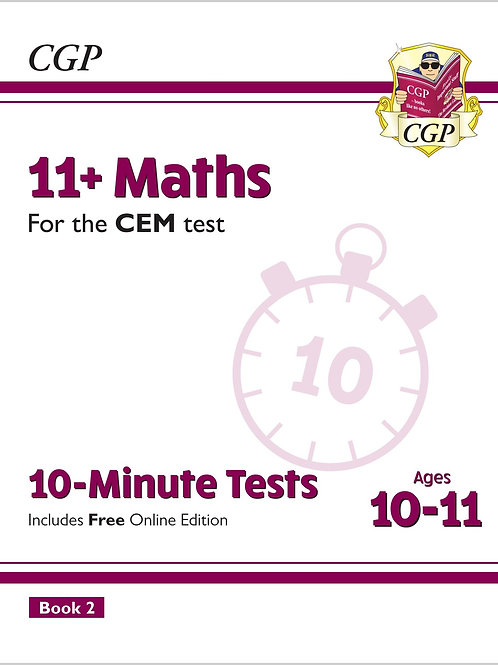11+ CEM 10-Minute Tests: Maths - Ages 10-11 Book 2 (with Online Edition)