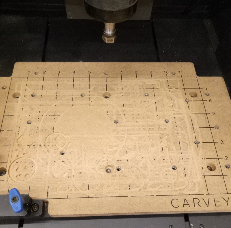 cnc base board with engravings
