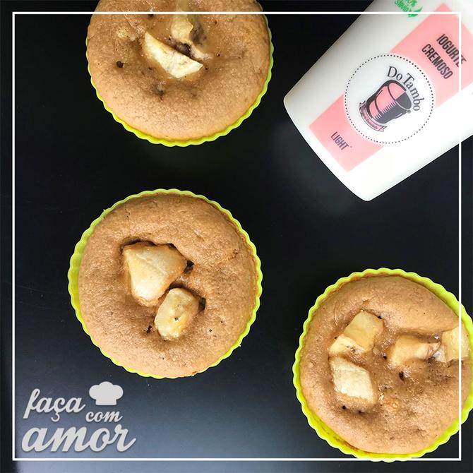 Muffin de coco com banana