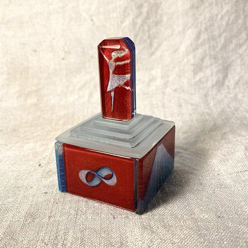 ガラスの小箱 赤と青