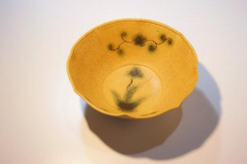 黄瀬戸輪花小鉢