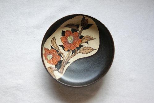 丸小皿 椿