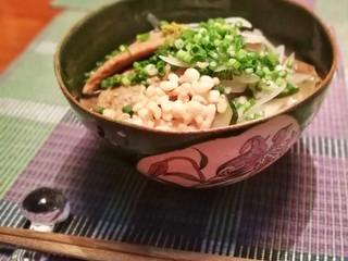 新作の麺鉢で