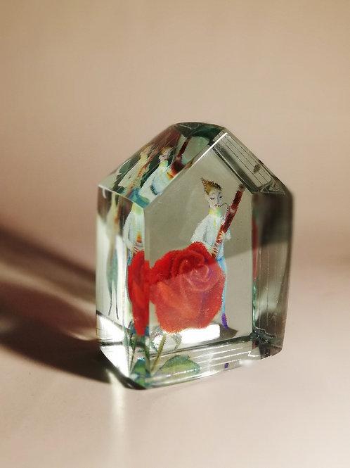 ガラスハウス ファゴット奏者とバラ