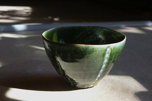 織部幾何文麺鉢