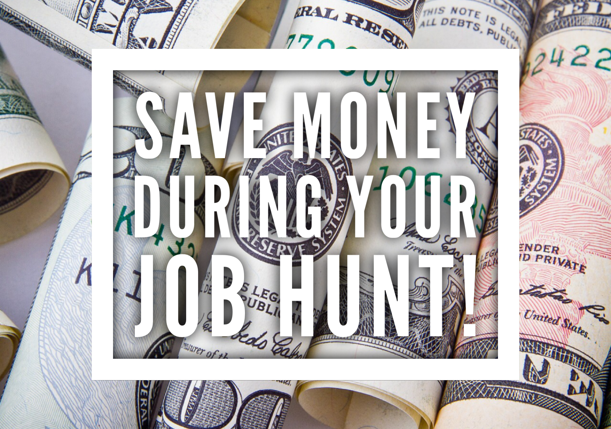 Save money during job search That Purple Book career advice
