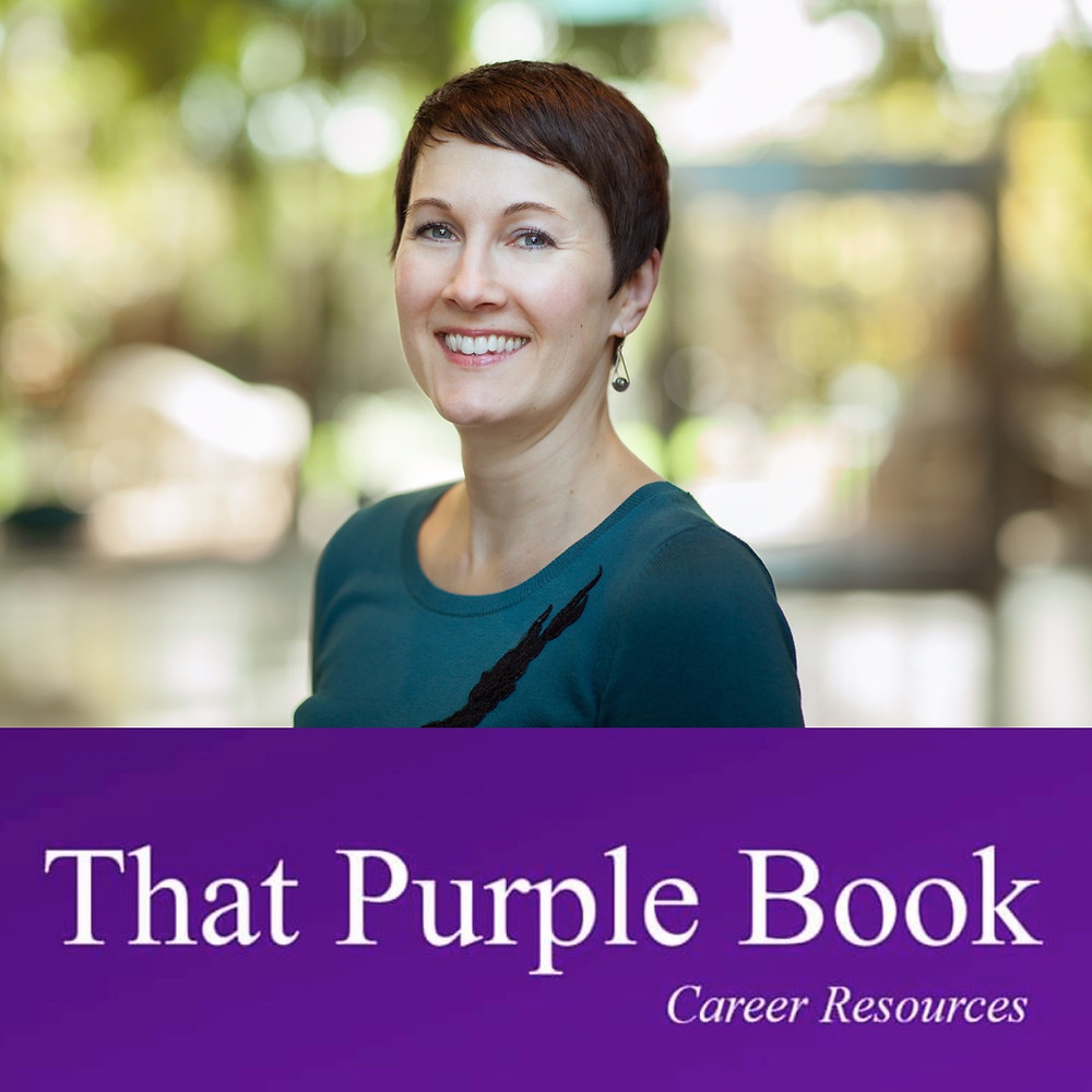 Sarah Marie Schrader offers careers tips with That Purple Book