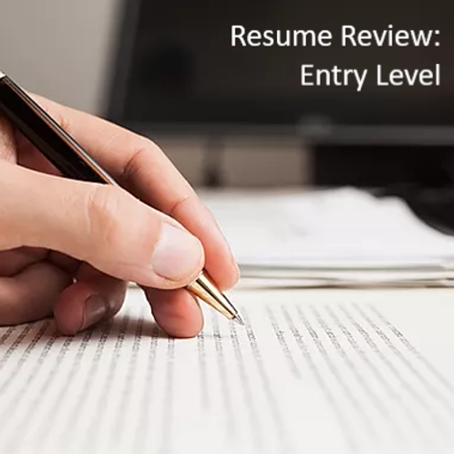 Resume Review Service - Entry Level