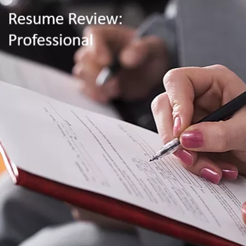 Resume Review Service - Professional