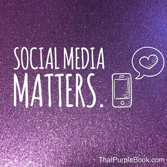 That Purple Book social media matters