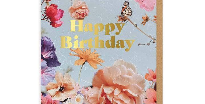 English Garden Birthday Greeting Card