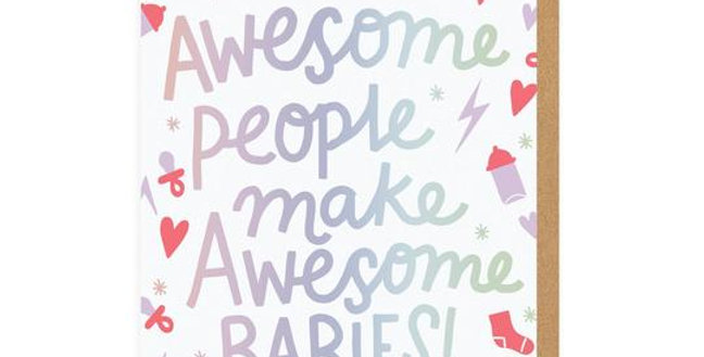 Awesome Babies Greeting Card
